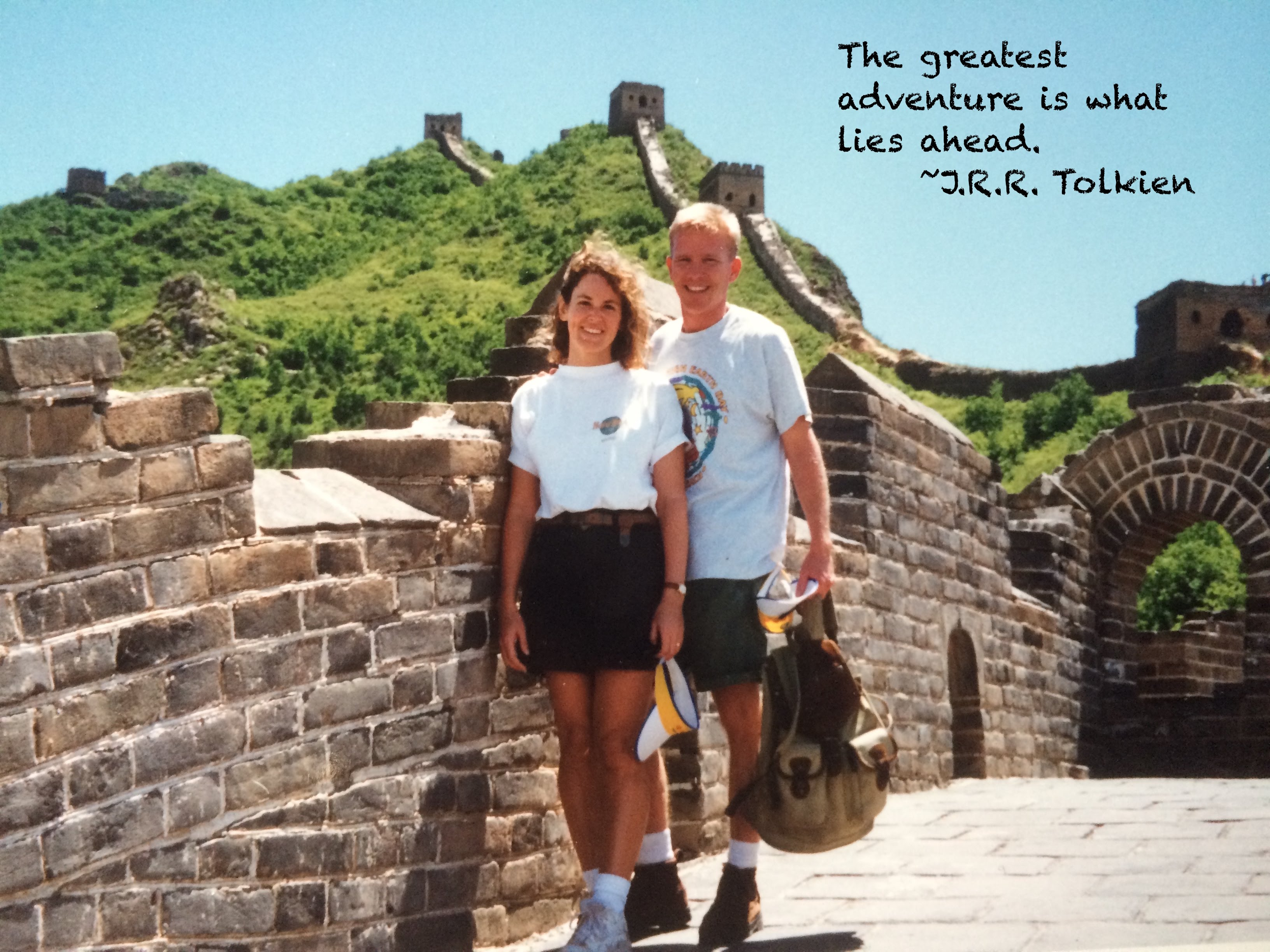 Mike and Carol on the Great Wall